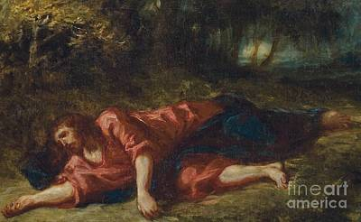 Olive Painting - The Agony In The Garden by Ferdinand Victor Eugene Delacroix