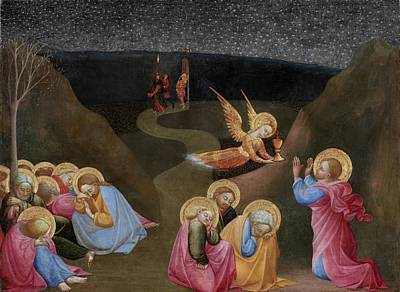 Italian Evening Painting - The Agony In The Garden by Stefano di Giovanni di Consolo