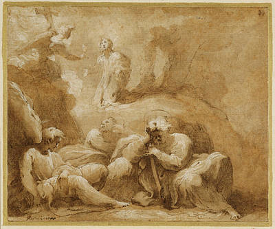 Wash Drawing - The Agony In The Garden Valerio Castello by Litz Collection