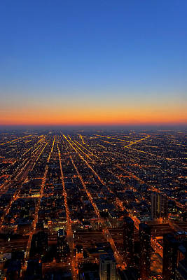 Photograph - The Air Up Here - Chicago Aerial View by Mark E Tisdale