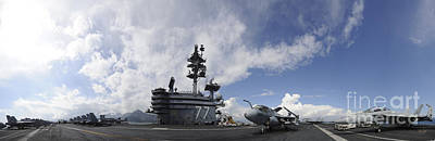 Grimm Fairy Tales - The Aircraft Carrier Uss George H.w by Stocktrek Images