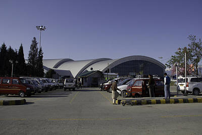 The Airport In Srinagar The Capital Of Jammu And Kashmir Art Print by Ashish Agarwal