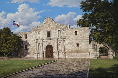 The Alamo Painting - The Alamo by Kyle Wood