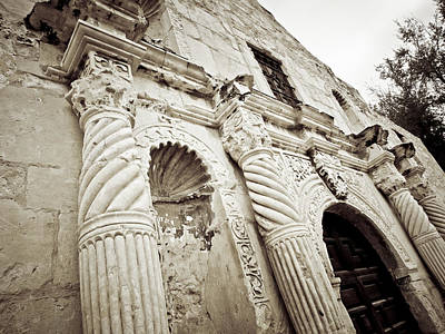 Stone Buildings Digital Art - The Alamo by Linda Unger