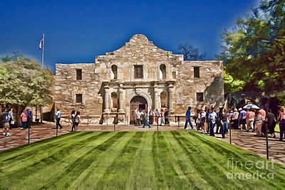 Photograph - The Alamo Paintography by Ken Johnson