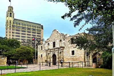 Print featuring the photograph The Alamo by Ricardo J Ruiz de Porras