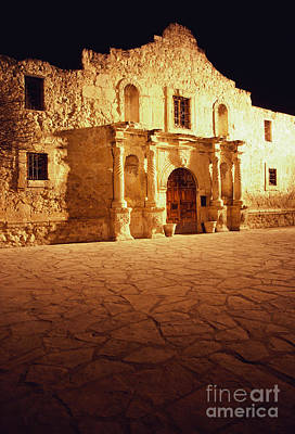 Historic Battle Site Photograph - The Alamo by Van D. Bucher