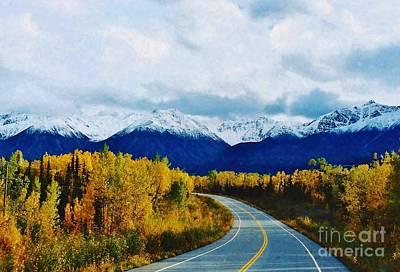 Land Of The Midnight Sun Photograph - The Alaska Highway Beauty by D Hackett