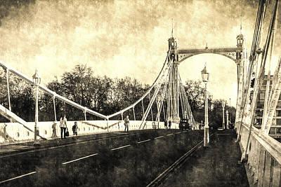 Photograph - The Albert Bridge Vintage by David Pyatt