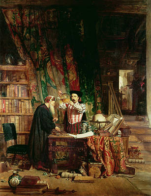 Crt Wall Art - Photograph - The Alchemist, 1853 by William Fettes Douglas