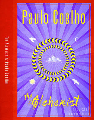 Book Jacket Drawing - The Alchemist Book Cover Poster Art 2 by Nishanth Gopinathan