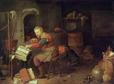 Potions Photograph - The Alchemists Workshop by David III Ryckaert