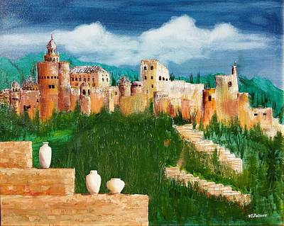 Painting - The Alhambra by Vic Delnore