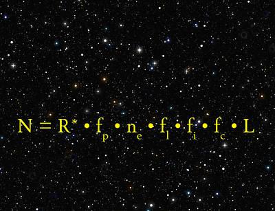 The Alien Equation - Scientific Estimate Of Techno Alien Civilizations Art Print