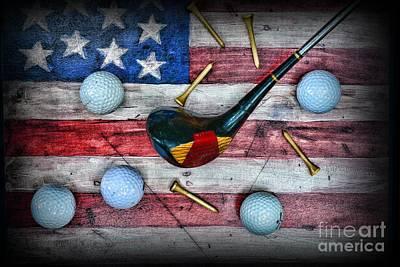 The All American Golfer Art Print