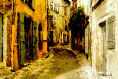 The Alley Art Print by Wayne Pascall