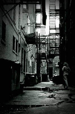 Dumpster Photograph - The Alleyway by Michelle Calkins