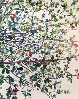 The Almond Tree Art Print by Aditi Bhatt
