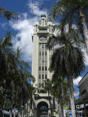 Marsh Photograph - The Aloha Tower by Deborah Smolinske