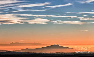 Photograph - The Alps Sunset Over Fog by Bernd Laeschke