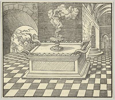 Lubeck Drawing - The Altar Of Incense, From De Biblie by Erhard Altdorfer