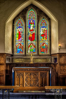 Crucifix Photograph - The Altar Windows by Adrian Evans