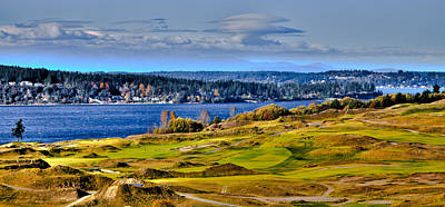 Golf Photograph - The Amazing Chambers Bay Golf Course - Site Of The 2015 U.s. Open Golf Tournament by David Patterson