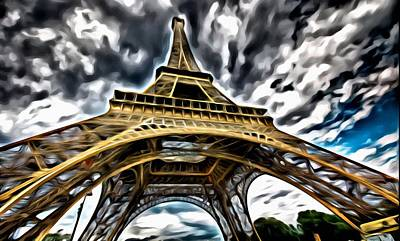 Painting - The Amazing Eiffel by Florian Rodarte