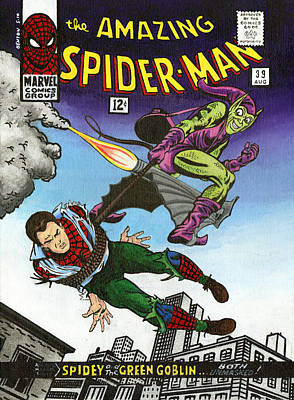 Graphics Painting - The Amazing Spider-man 39 by Steve Benton