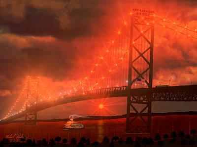 The Ambassador Bridge Original by Michael Rucker