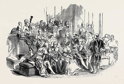 The Ambassadors And Church Benches Art Print by English School