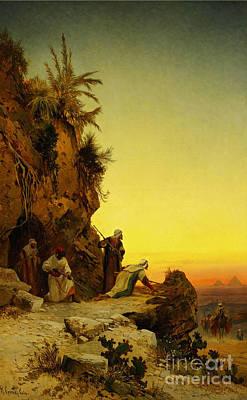 God Painting - The Ambush Near Giza by Celestial Images
