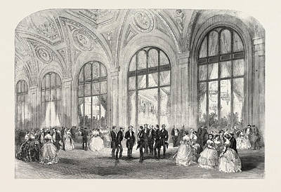 Louvre Drawing - The American Ball, Hotel Du Louvre, Paris by French School