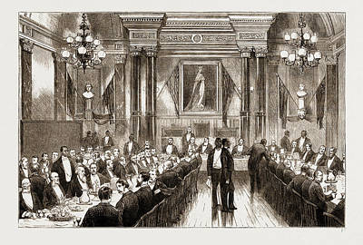 Given Drawing - The American Centennial Exhibition, 1876 Banquet Given by Litz Collection