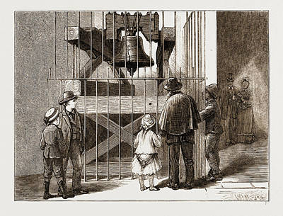 1876 Drawing - The American Centennial Exhibition, 1876 Liberty Bell by Litz Collection