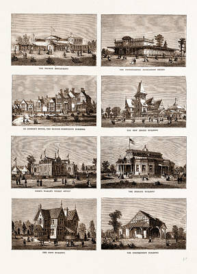 The American Centennial Exhibition Buildings In The Grounds Art Print