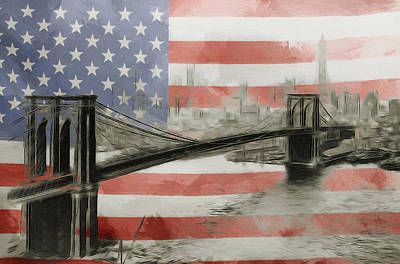 Nyc Mixed Media - The American Dream by Steve K