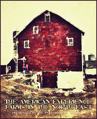 Red Barns Digital Art - The American Experience by H James Hoff