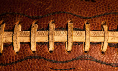 Footballs Closeup Photograph - The American Football by David Patterson