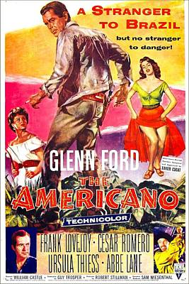 The Americano, Us Poster, From Left Art Print by Everett