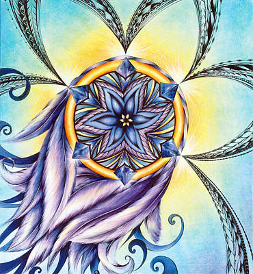 Painting - The Amethyst Of Time by Andrea Carroll