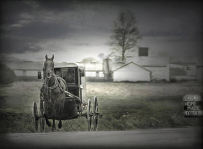 Photograph - The Amish Of Lancaster County by Dyle   Warren
