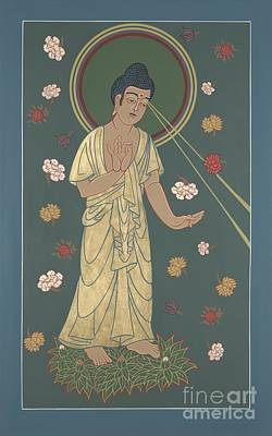 Painting - The Amitabha Buddha Descending 247 by William Hart McNichols