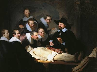 Netherlands Painting - The Anatomy Lesson Of Dr. Nicolaes Tulp by Rembrandt van Rijn