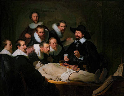 Painting - The Anatomy Lesson Of Dr. Nicolaes Tulp by Doc Braham