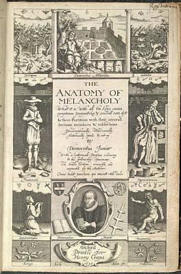 The Anatomy Of Melancholy Art Print
