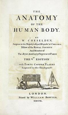 The Human Body Photograph - The Anatomy Of The Human Body (1740) by British Library
