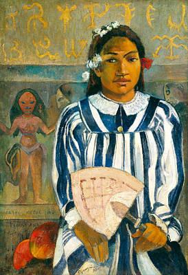 Ancestor Painting - The Ancestors Of Tehamana Or Tehamana Has Many Parents.merahi Metua No Tehamana. by Paul Gauguin