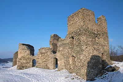 Railroad - The ancient castle in winter. by Jaroslav Frank