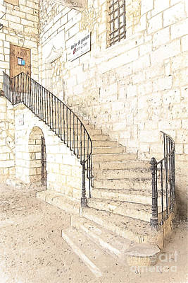 The Ancient Stone Staircase Art Print